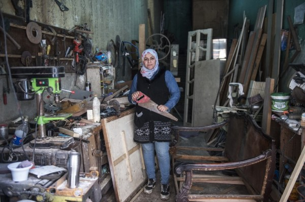 EGYPT - Asmaa Megahed, carpintera    AFP