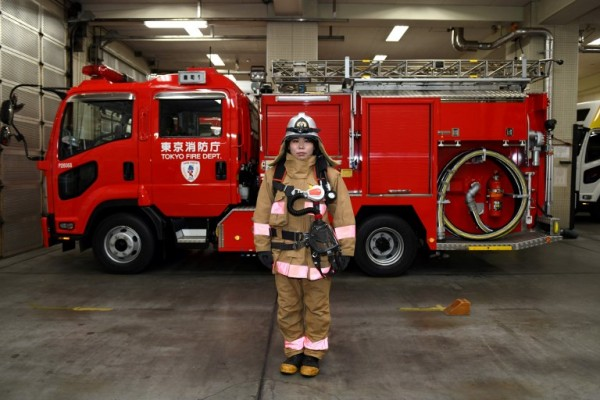 JAPÓN - Ran Namise, bombera    AFP
