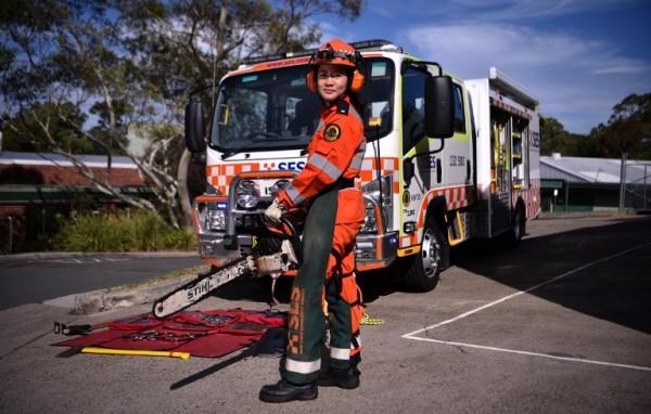 AUSTRALIA - Michelle Whye, voluntaria en servicios de emergencia    AFP