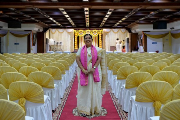 INDIA - Bhramaramba Maheshwari P, sacerdotisa    AFP