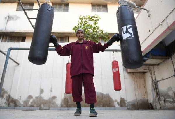 PAKISTÁN - Razia Banu, boxeadora    AFP