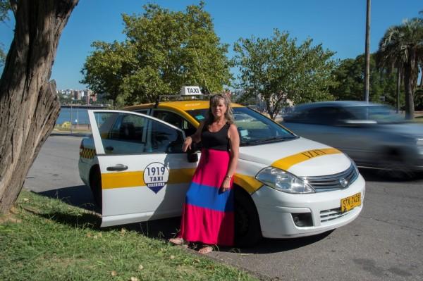 URUGUAY - Fatima Canedo, taxista || AFP