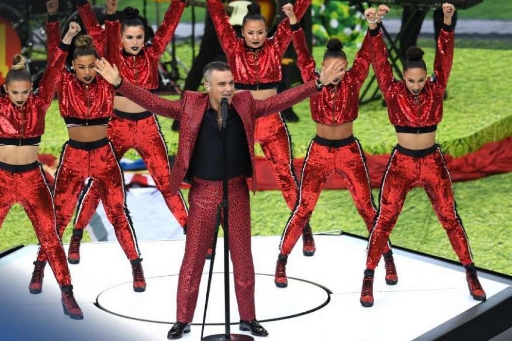 Austera fiesta inaugural del Mundial con Robbie Williams como atracción — 180 | Del Sol 99.5 en el Mundial Rusia 2018