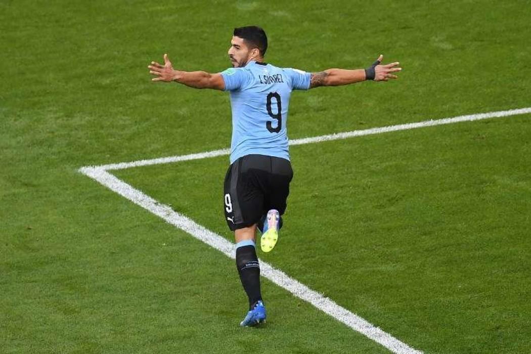 Uruguay gana 3 a 0 con goles de Suárez, Cavani y otro en contra — Noticias | Del Sol 99.5 en el Mundial Rusia 2018