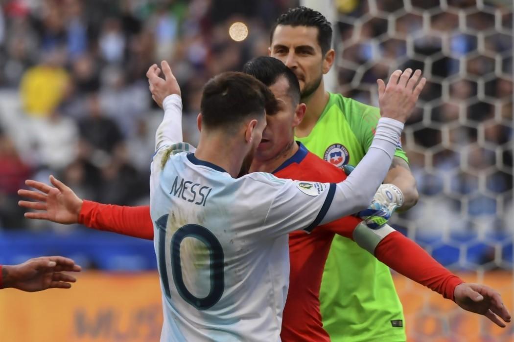 Messi fue expulsado por segunda vez en su carrera — Noticias | Del Sol 99.5 en el la Copa América 2019