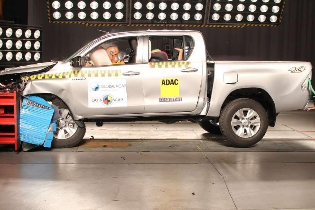 Latin NCAP: cinco estrellas para Toyota Hilux y por primera vez para un Chevrolet — 180.com.uy | Del Sol 99.5 en el la Copa América 2019