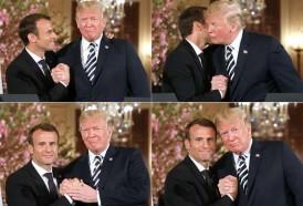 Portal 180 - Gestos de afecto entre Macron y Trump causan gracia en EEUU