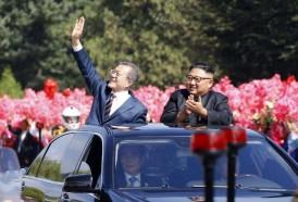 Portal 180 - El presidente surcoreano aclamado a su llegada a Pyongyang