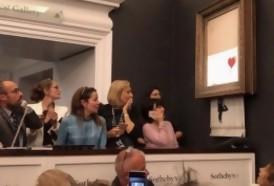 Portal 180 - La autodestruida obra de Banksy vale más ahora que la original