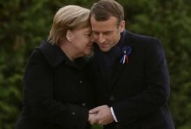 """Portal 180 - Merkel y Macron celebran la reconciliación francoalemana """"al servicio de Europa y de la paz"""""""