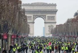 Portal 180 - Menor convocatoria en quinta semana de protestas en Francia