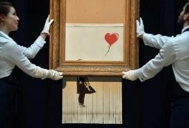 Portal 180 - El lienzo autodestruido de Banksy se expone en Alemania