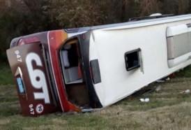 Portal 180 - Ómnibus volcó en la ruta y dejó varios heridos
