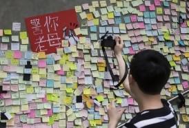 """Portal 180 - Los """"muros de Lennon"""" con mensajes contra el gobierno florecen en Hong Kong"""