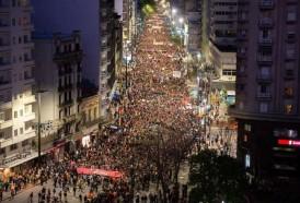 Portal 180 - Una multitud marchó en contra de la reforma Vivir sin miedo