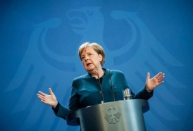 """Portal 180 - Merkel """"se encuentra bien"""" en su casa, donde cumple cuarentena"""