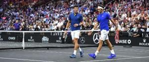 Portal 180 - Federer y Djokovic pierden en su estreno en dobles en Laver Cup