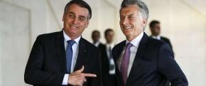 """Portal 180 - Bolsonaro y Macri juntos contra Maduro y por un Mercosur """"flexible"""""""