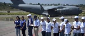 Portal 180 - Guaidó convoca a manifestaciones mientras recibe más ayuda humanitaria