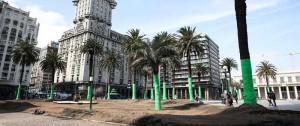 Portal 180 - La Plaza Independencia, redecorada para la serie producida por Keanu Reeves