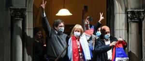Portal 180 - Las imágenes de los festejos del FA en Montevideo