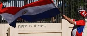 Portal 180 - Protestas reclaman por tercer día renuncia del presidente en Paraguay