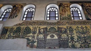 Tras meses de restauración, mosaicos de Basílica de la Natividad en Belén vuelven a brillar | 180