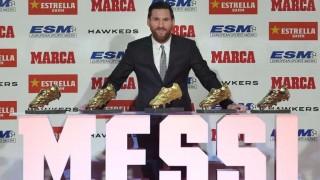 Messi recibe su quinta Bota de Oro, el único jugador en conseguirlo | 180
