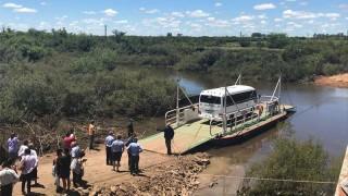 MTOP instaló balsa para personas y vehículos en arroyo de Sarandí del Yí | 180