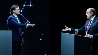 Los cruces entre Lacalle y Martínez durante el debate | 180