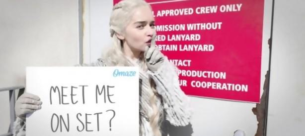 """Portal 180 - Emilia Clarke sortea un paseo por el """"top secret set"""" de Game of Thrones"""