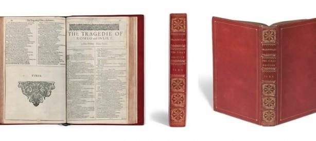 Portal 180 - Subastan un ejemplar del Primer Folio de Shakespeare a partir de 4 millones