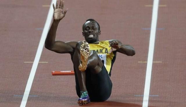 Bolt cayó pero sus rivales se rinden ante él