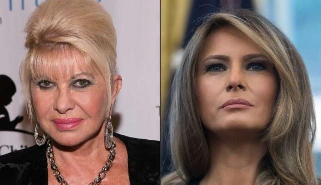 Melania Trump se irrita con Ivana, que se dice primera dama