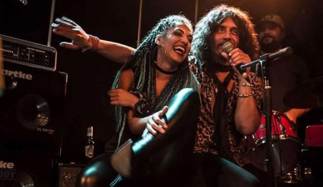Julieta y el Zorrito en su homenaje al rock del Río de la Plata