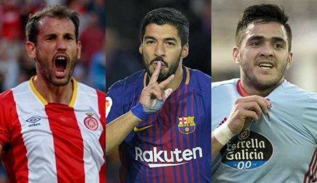 Tres uruguayos entre los cinco máximos goleadores de la Liga de España