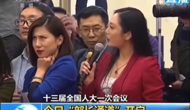 Un gesto de una periodista china desató una tormenta político-mediática