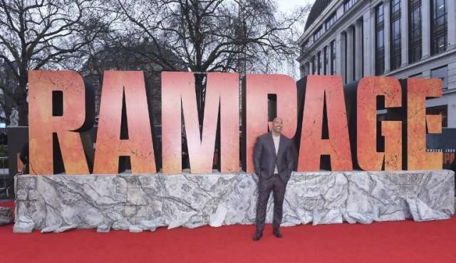 """""""Rampage"""" supera al horror de """"Un lugar en silencio"""" en la taquilla norteamericana"""