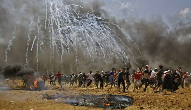 "Palestinos piden frenar ""la horrible masacre en Gaza"""