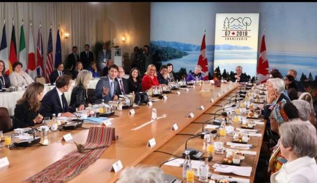 Sonrisas de protocolo con tensiones de fondo en cumbre del G7