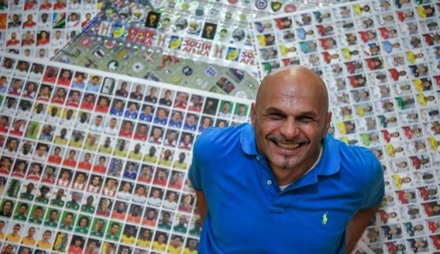 Gianni Bellini, el mayor coleccionista del mundo de figuritas de fútbol