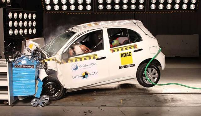 Latin NCAP: una estrella para Nissan March y dos para Mazda 2