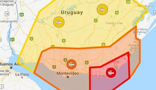 Ciclón tuvo ráfagas de viento de hasta 96 km/h en Punta del Este