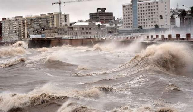 Cesó advertencia naranja para Montevideo; permanecen zonas de Maldonado y Rocha