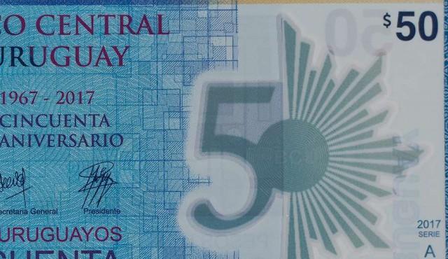 BCU lanzó el nuevo billete de 50 pesos