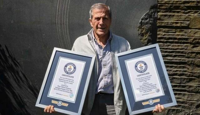 Tabárez recibió dos premios de Guinness World Records