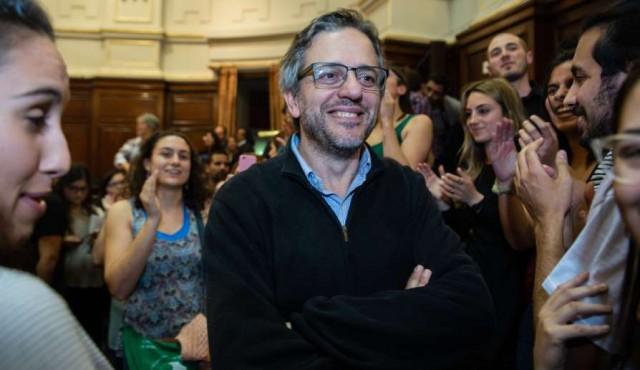 Arim electo rector de la Udelar pero un grupo de estudiantes no lo dejó hablar
