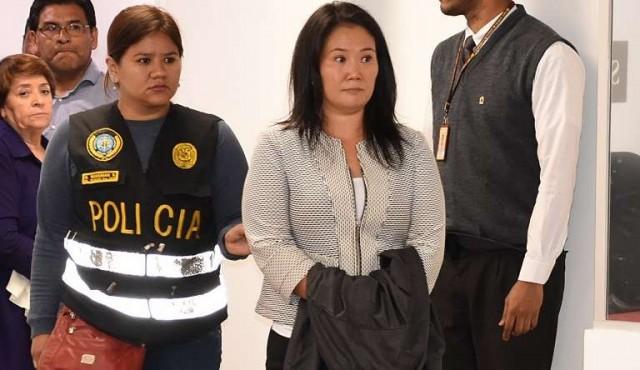 Detienen a Keiko Fujimori acusada de recibir aportes ilegales de Odebrecht