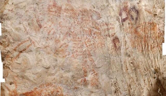 La pintura figurativa más antigua conocida hasta ahora se halla en Asia