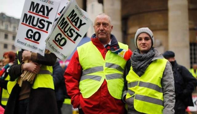 Chalecos amarillos se manifiestan ahora también en Londres